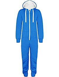 9af5fa5d32b XCLUSIVE NEW WOMENS MENS ADULT UNISEX HOODED ONESIE JUMPSUIT ALL IN ONE  PIECE FULL…
