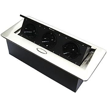 Versenkbare Steckdose für Küche und Büro mit Softöffnung – Ideal ...