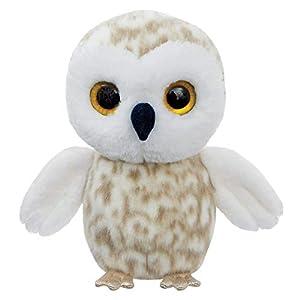 Aurora World 61297 Snowee The Snowy Owl - Peluche de búho, Color Gris y Blanco