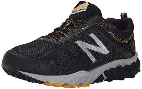 New Balance Men's Mt_wt610v5 Running Shoes, Black/Gold Rush, 12.5 UK
