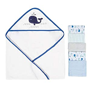 Softan Baby Hooded Bath Towel and Washcloths | Extra Soft and Ultra Absorbent | 6 Pack Gift for Newborn and Infants