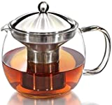 Teapot Kettle with Warmer - Tea Pot and Tea Strainer Set - Tea Infuser Holds 3-4 Cups