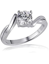 Goldmaid Damen-Ring 925 Sterlingsilber 1 Zirkonia