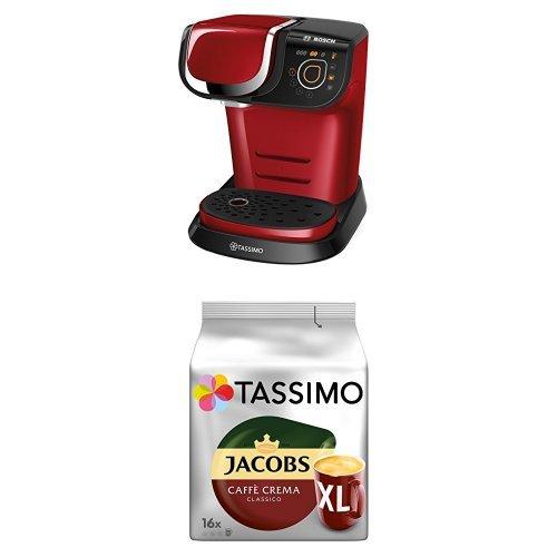 Bosch Tassimo My Way TAS6003 Multigetränkeautomat + Tassimo Jacobs Caffè Crema Classico XL, 5er...