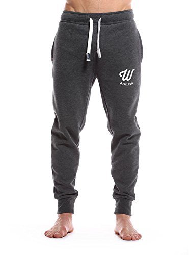 WOLDO Athletic Herren Jogginghose Trainingshose Jogger (M, darkgrey)