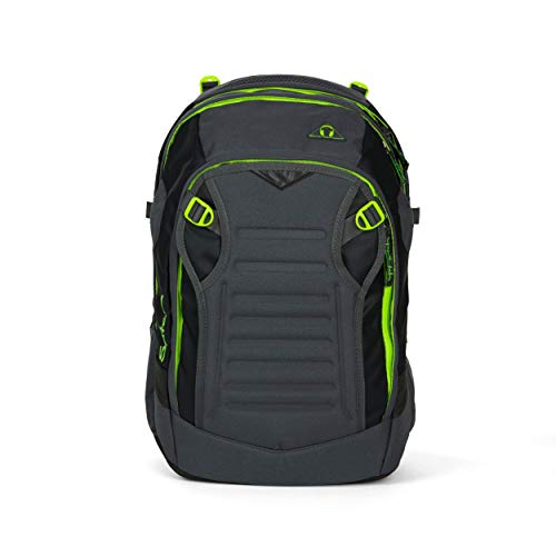 satch Match, Phantom ergonomischer Schulrucksack, erweiterbar auf 35 Liter, extra Fronttasche