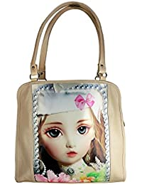Tycos Leather Handbag With Picture For Women Light Brown