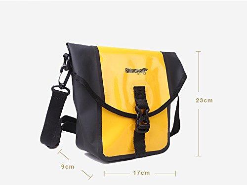 Unisex Gepäckträgereinzeltasche Fahrradtasche Gepäckträger Tasche mit abnehmbarem Schultergurt, Hellgelb Hellgelb