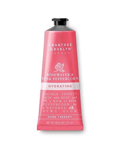 Rosewater & Pink Peppercorn Hand Therapy Handcreme 100g (& Evelyn Crabtree Rosewater)