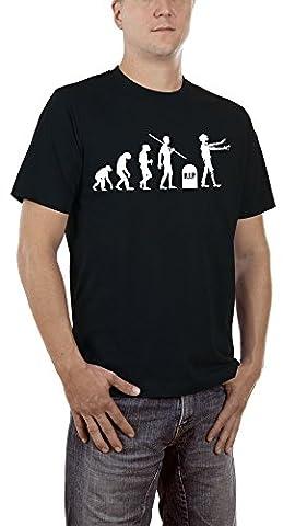 Touchlines Herren T-Shirt Zombie Evolution Schwarz (Black 13), XXXXX-Large