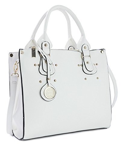 Big Handbag Shop, Borsa a mano donna One White (SD510)