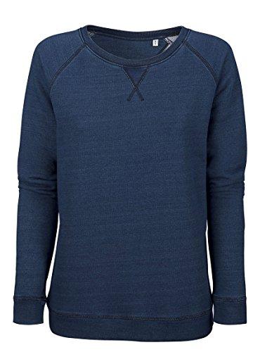 Sweat Bleu Denim - Jean Foncé Coton Bio Éthique - Femme Bleu Jean foncé