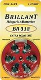 Brillant Typ 312 - 30 Stück Hörgerätebatterien