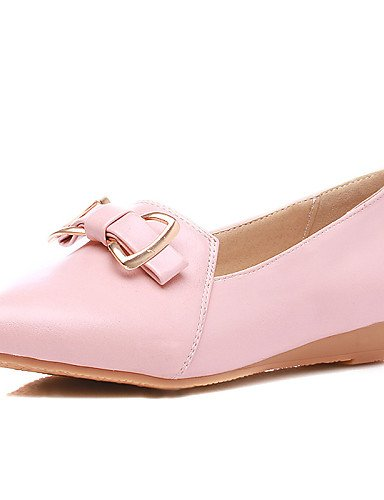 ZQ gyht Scarpe Donna-Mocassini-Casual-Zeppe-Zeppa-Finta pelle-Blu / Rosa / Bianco , pink-us8 / eu39 / uk6 / cn39 , pink-us8 / eu39 / uk6 / cn39 white-us7.5 / eu38 / uk5.5 / cn38
