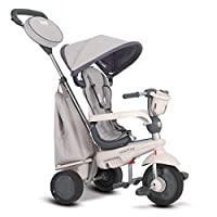smarTrike Deluxe Trike Baby Tricycle for 1 Year Old, Grey