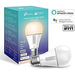TP-Link - Bombilla LED Funciona con Alexa Altavoz Inteligente y Google Home, Bombilla WiFi, Regulable Suave, Blanco cálido 10W, 800lm (KL110)