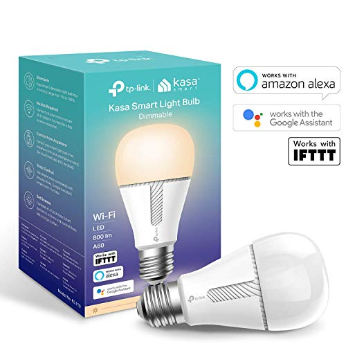 TP-Link KL110 Lampadina Wi-Fi E27, 10 W, Funziona con Amazon Alexa, Google Home e IFTTT, Bianco dimmerabile, Supporta l'accesso remoto tramite l'app Kasa, Nuovo Prodotto 2019