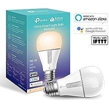 TP-Link KL110 Lampadina Wi-Fi E27, Funziona con Amazon Alexa e Google Home, 800 Lumen 10 W, Bianco dimmerabile
