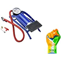 R.H. NAKRANI CREATION Foot Pump, Portable High Pressure Foot Pump, Air Tyre Inflator, Pump Compressor for Bike/Car/Cycles and All Vehicles