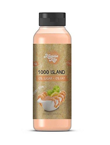 GymQueen Mamma Mia Zero Sauce | kalorienarm, ohne Fett & ohne Zucker | Zum Verfeinern von Gerichten oder als Salat-Dressing | vegetarisch, glutenfrei, laktosefrei | 1000 Island Soße