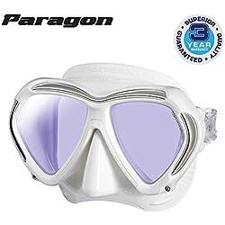 Tusa Paragon Masque de plongée Filtre UV Professionnel, Blanc