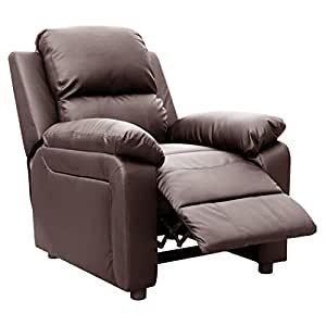 ULTIMO BROWN LEATHER RECLINER ARMCHAIR SOFA CHAIR RECLINING HOME LOUNGE