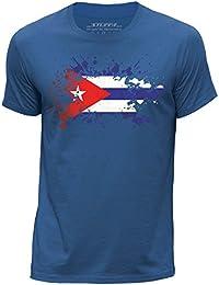 STUFF4 Hombres Grande (L) Azul Real Cuello redondo de la camiseta 58131bd52e5
