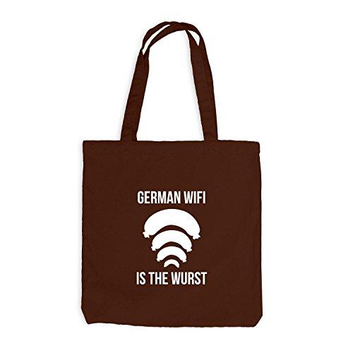 Jutebeutel - German WIFI is the Wurst - Fun Oktoberfest Chocolate