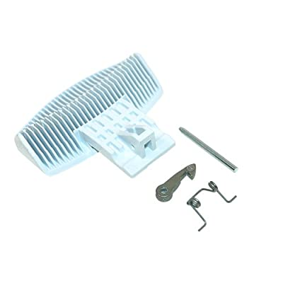 Genuine INDESIT IWDE126 IWDE12 IWME126 Washing Machine White Door Handle Kit - inexpensive UK door handle shop.