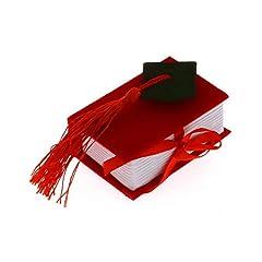 Idea Regalo - Publilancio srl 12 PZ Libro Rosso Laurea portaconfetti con Tocco BOMBONIERA