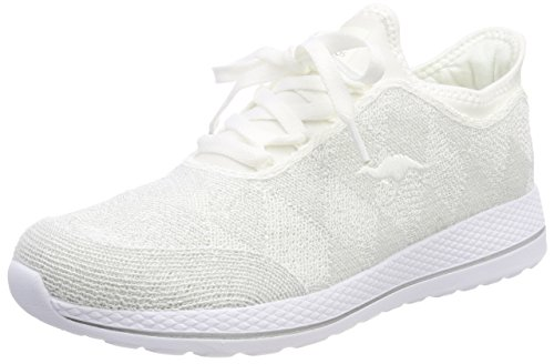 KangaROOS W-518, Baskets Mixte Adulte Weiß (White/Silver)