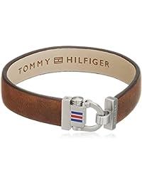 Tommy Hilfiger Herren-Armband Edelstahl Leder 22 cm-2700768