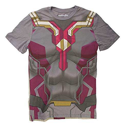 Kostüm Ultron Avengers Age Vision Of - Marvel Avengers Age of Ultron I Am The Vision Herren Kostüm T-Shirt | L