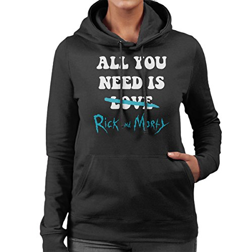 All You Need Is Rick And Morty Women's Hooded Sweatshirt Black