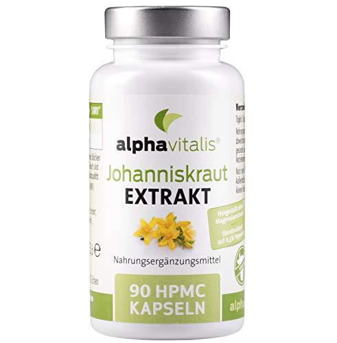 Johanniskraut Extrakt 2000 mit Hypericin - Ohne Magnesiumstearat - 90 Kapseln zu 500 mg Extrakt -...