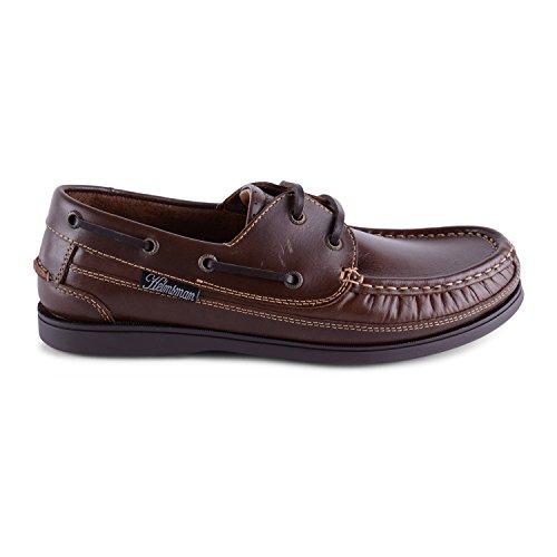 Footwear Sensation , Herren Bootsschuhe Braun Steuermann Lace up