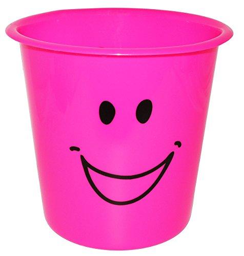 """Papierkorb // Behälter /"""" lustiges Gesicht NEON grün /"""" 5 Liter aus Kunstst"""