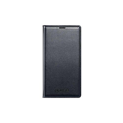 Samsung Flip Wallet Hülle Case Cover mit Kartenfach für Galaxy S5 - Schwarz