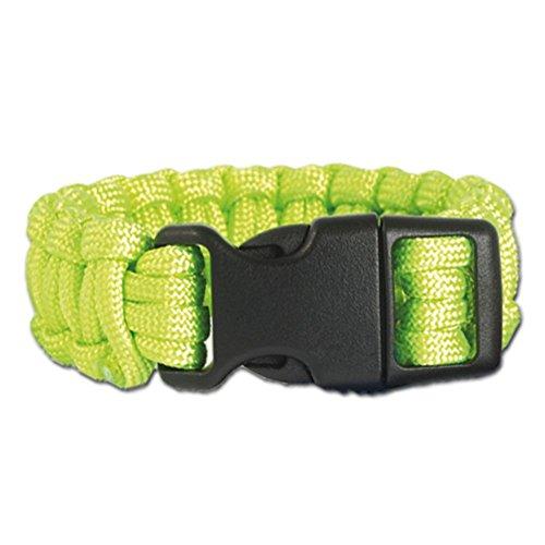 Mil-Tec Bracelet de Paracorde (Vert, Medium)