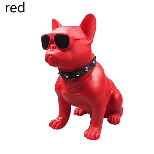 qiyan Speaker Haut-Parleur sans Fil Bulldog Haut-Parleur Bluetooth Portable Chien Subwoofer Ordinateur à usages Multiples Ordinateur Haut-Parleur Lecteur MP3 FM Radio-in Haut-parleurs Portables Rouge