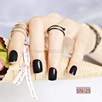 FARMERLY 2018 24pcs short paragraph new cute candy color hot buy fake fingernails complete 22 color Can choose: SN25