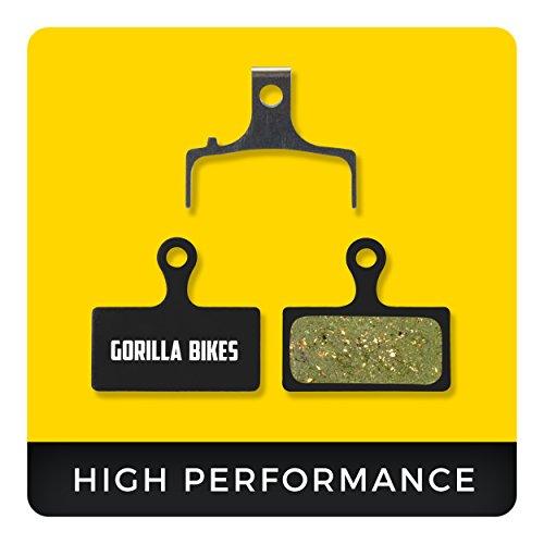 Shimano Bremsbeläge G01S XTR BR-M9000 M987 M985 XT M8000 M785 SLX M675 M666 Deore M615 für Mountainbike Scheibenbremse I Organic Bike Beläge I Organischer Bremsbelag I Gorilla Bikes High Performance Disc Brake Pads