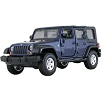 Jeep Wrangler Unlimited Rubicon 4 Doors Blue 1/32 by BBurago 43012 by Bburago - Wrangler Unlimited Rubicon