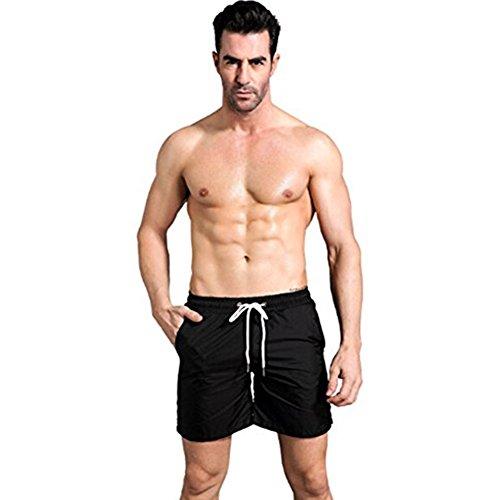 Generic Reflektierende Nacht Laufen Sport Fitness Shorts Herren Black