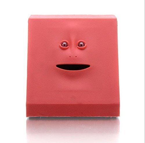 URGrace Red Automatik Sensor Cute Face Bank Münze Essen Sparen Geld Bank Piggy Banks Weihnachten Kinder Spielzeug Geburtstag Novetly Geschenk
