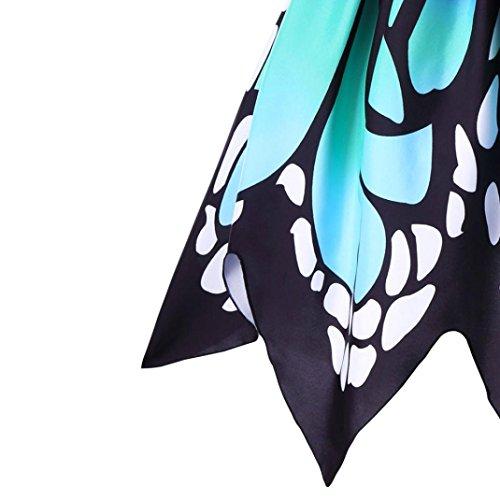 KOLY donna Butterfly Sleeveless Dress Vestito da partito Swing Abito vintage in pizzo Abito Da Cocktail Vintage In Tulle Con Ricamo Sottile A Vita Alta Gonna Mini Primavera Estate Multicolor