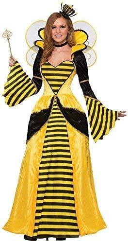 Fancy Me Damen Queen Bee Lang Voll Länge Tier Insekten Welttag des Buches-Tage-Woche Karneval Kostüm Kleid Outfit 10-14 (Beste Welttag Des Buches Kostüme)