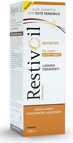 RestivOil Olio Shampoo per Capelli Secchi ed Opachi, con Proprietà Sebo-Restitutive, senza Agenti Schiumogeni Aggressivi, 250 ml