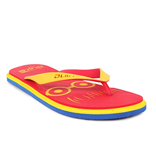 Duke Men's Red, Yellow & Blue Coloured Eva Slippers 7  available at amazon for Rs.250