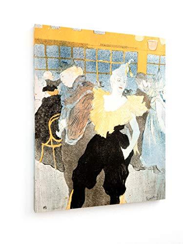 Henri de Toulouse-Lautrec - Clownesse Cha-u-kao - 60x75 cm - Textil-Leinwandbild auf Keilrahmen - Wand-Bild - Kunst, Gemälde, Foto, Bild auf Leinwand - Alte - Kabarett Kostüm Bilder